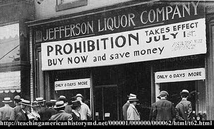 an understanding of the prohibition in the united states Why prohibition why did the united states have a prohibition movement, and enact prohibition we offer some generalizations in answer to that question.